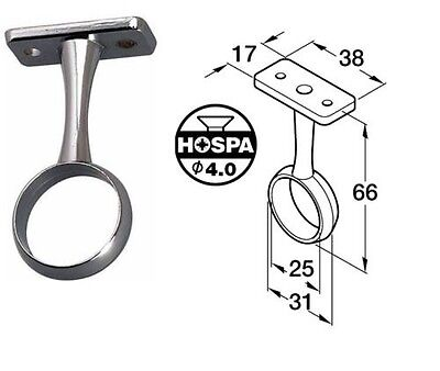 £2.99 • Buy Wardrobe Rail Centre Support Bracket Chrome Finish For Tube Hanging With Fixings