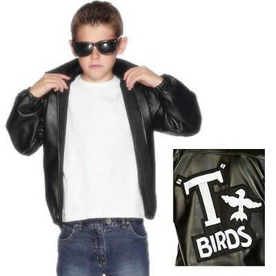 Childs Boys Officially Licensed Grease T Bird Fancy Dress Jacket New By Smiffys • 23.99£