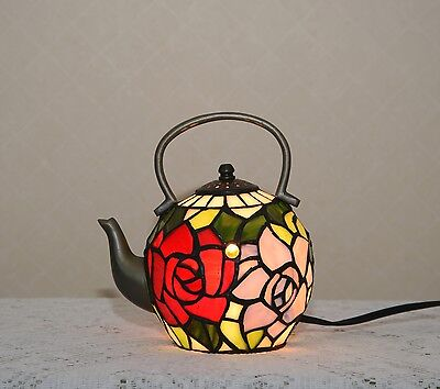 £85.18 • Buy Stained Glass Handcrafted Tea Pot Kettle Teapot Night Light Table Lamp.