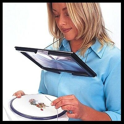 Giant Hands Free  Magnifying Glass - Reading Sewing Craft Knitting UK SELLER • 7.99£