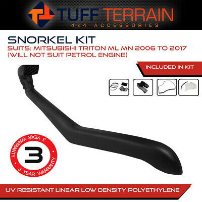 AU129.99 • Buy Snorkel Kit To Suit Mitsubishi Triton ML MN 2006 - Onwards 4WD Diesel