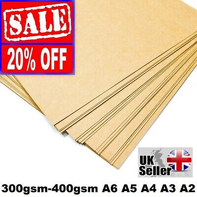£0.99 • Buy A4 A5 KRAFT BROWN CARD THICK PAPER CRAFT MAKING BOARD CARDBOARD TAGS 300gsm -400