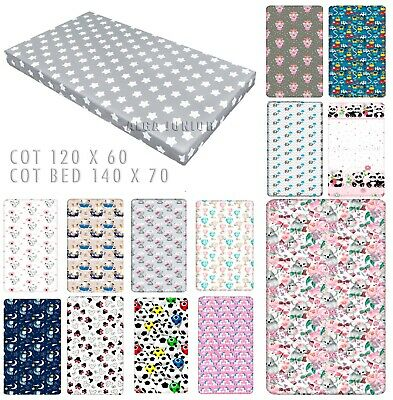 £6.98 • Buy Baby Fitted Sheet  For Cot 120 X 60 Cot Bed 140 X 70 100% Cotton Patterned