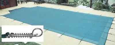 12 X 24ft Premium Winter Debris Cover Swimming Pool With 5ft Roman End + Fixings • 415£