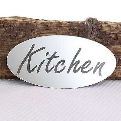 £4.99 • Buy Kitchen Door Plaque Fridge Plate Room Sign With Sticky Pads With Sticky Pads