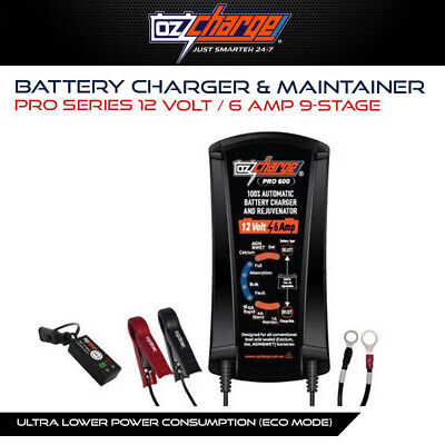 AU179.99 • Buy Oz Charge 12V 12 Volt / 6A 6 Amp 9-Stage Battery Charger