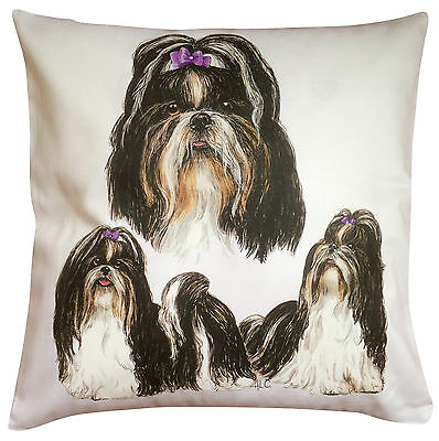 £14.99 • Buy Shih Tzu Group Breed Of Dog Themed Cotton Cushion Cover - Perfect Gift
