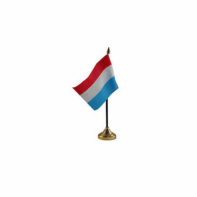 £3.77 • Buy Luxembourg Table Desk Flag - 10 X 15 Cm National Country Hand Europe