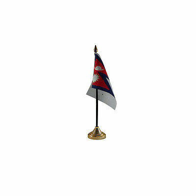 £2.99 • Buy Nepal Table Desk Flag - 10 X 15 Cm National Country Hand Asia