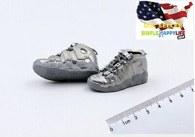 $17.84 • Buy 1/6 Men Silver Sneakers Shoes HOLLOW AD Basketball For Hot Toys Phicen ❶USA❶