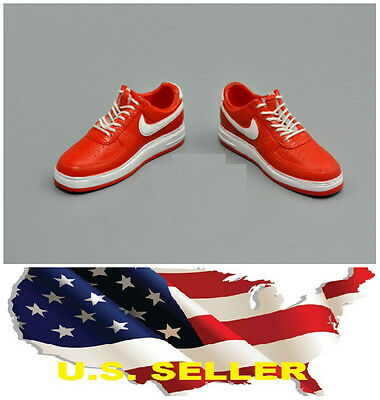 $13.64 • Buy 1/6 Shoes Red White Men Sneakers For 12  Figure Phicen Enterbay Hot Toys ❶USA❶