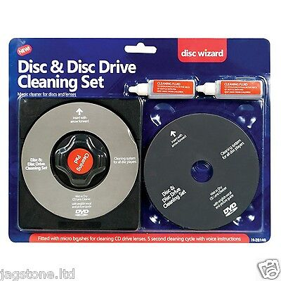 £4.49 • Buy CD/DVD Disc LENS CLEANER/CLEANING SET TOR LAPTOP COMPUTER PS2 PS3 PS4 WII XBOX