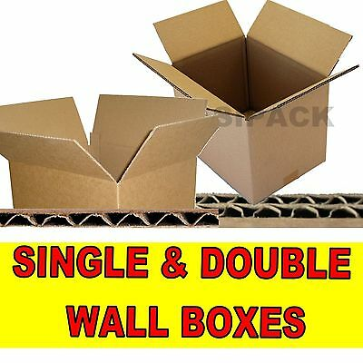 New Single & Double Wall Cardboard Postal Boxes - Made From Pure Kraft Paper • 6.10£