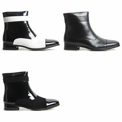 Mens Party Shoes Michael JAckson Style Gangster Zip Up Ankle Boots. • 24.99£