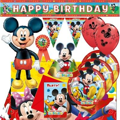Mickey Mouse Playful Party Supplies (Tableware, Balloons, Decorations, Napkins) • 2.99£