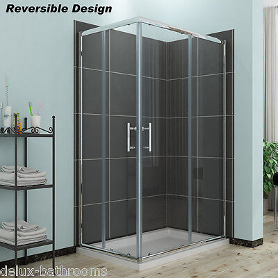 £129.99 • Buy Shower Enclosure Corner Entry Cubicle Sliding Screen Glass Door Stone Tray+Waste