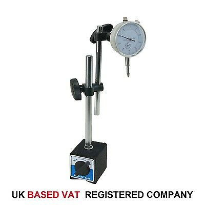 £18.99 • Buy Dial Indicator Test DTI Gauge 0-10mm With Double Pole Magnetic Base 40111963