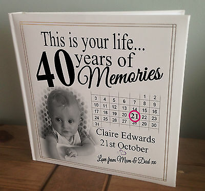 Personalised Extra Large Photo Album, 360 6x4  Photos, 40th Birthday Or Any Age? • 45.99£