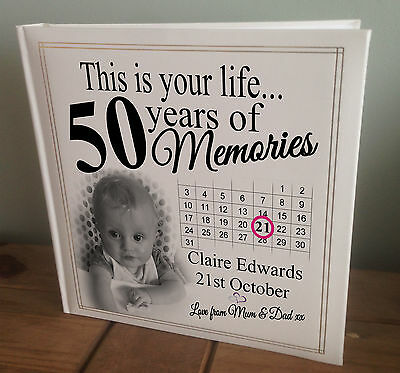 Personalised Extra Large Photo Album, 360 6x4  Photos, 50th Birthday Or Any Age? • 45.99£