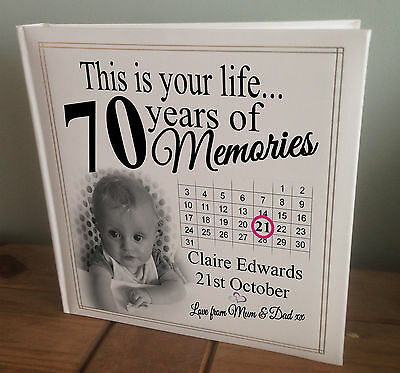 Personalised Extra Large Photo Album, 360 6x4  Photos, 70th Birthday Or Any Age? • 45.99£
