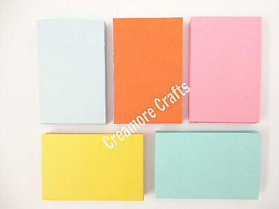 £4.95 • Buy 250 Blank Flash Cards  - 5 Colours - Plain Index Revision Notes Early Learning