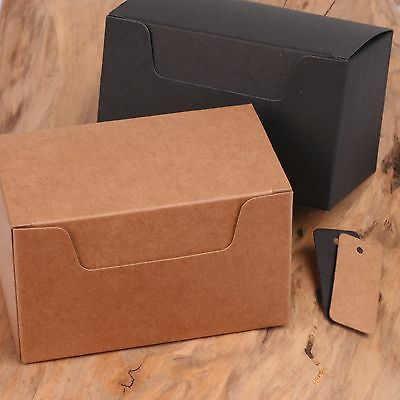 ECO KRAFT Small Natural GIFT BOXES Wedding Favour Chocolate Box | FREE Tags • 5.49£