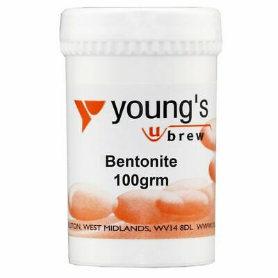 £5.58 • Buy Youngs Home Brew 100g Tub Of Bentonite For Wine Making Fining And Clearing.