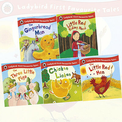 Ladybird First Favourite Tales 5 Books Collection (The Gingerbread Man) HARDBACK • 24.95£