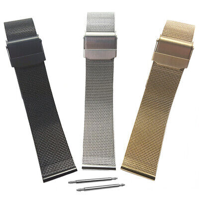 £7.39 • Buy Men's Women's Milanese Fine Mesh Watch Strap Bracelet Band With Safety Clasp