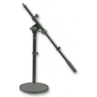 Pulse Heavy Cast Circular Base Short Microphone Stand With Boom • 22.95£
