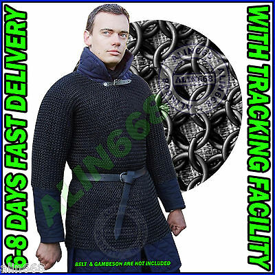 £44 • Buy Blackend Chainmail Shirt Butted Chain Mail Armor Costume Chainmaille Medium Size