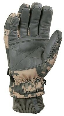 $15.99 • Buy ACU Digital Camo Military Waterproof Cold Weather Gloves Rothco 3669