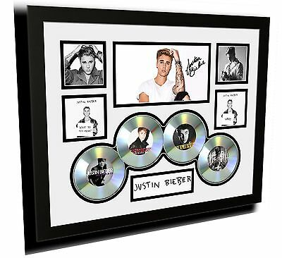 AU87.99 • Buy New Justin Bieber 2015 Purpose Cds Signed Limited Edition Framed Memorabilia