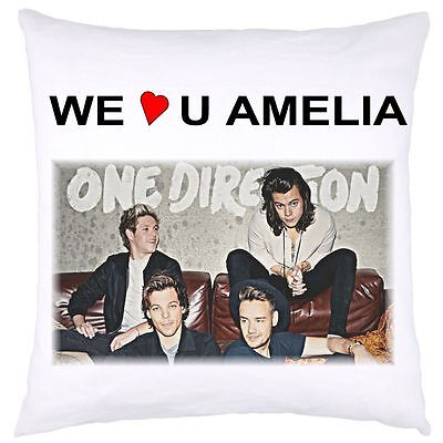 £9.99 • Buy Personalised Cushion Cover One Direction 1 D Group 4  Christmas Birthday Gift