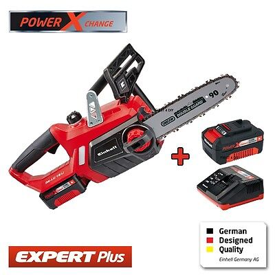 "View Details EINHELL 18V LITHIUM POWER EXCHANGE CORDLESS 10"" CHAINSAW & 1 BATTERY + 1 CHARGER • 139.95£"