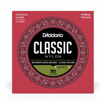 $ CDN7.64 • Buy D'Addario EJ27N 1/2 Student Nylon Fractional Classical Guitar Strings- N Tension