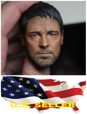 $30.44 • Buy Gladiator Russell Ira Crowe 1/6 Head Sculpt For Hot Toys Enterbay Body US Seller