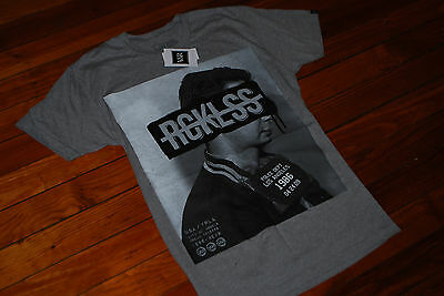 NEW Men's Young And Reckless Y&R Gray Fugitive T-shirt (Medium, Large) • 26.23£