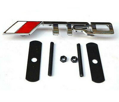 TRD Chrome Front Grill Badge Emblem SUPRA TURBO JDM STARLET YARIS IS200 METAL  • 7.99£