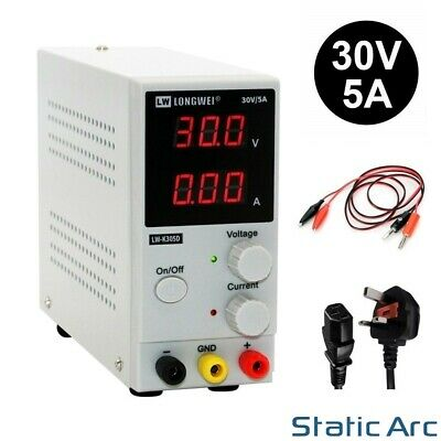 £39.99 • Buy Adjustable Power Supply 30v 5a Switching Dc Digital Led Precision Lab Variable