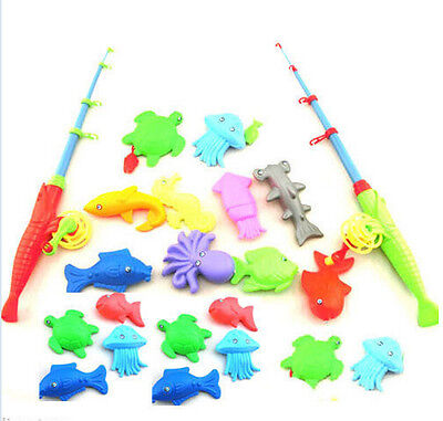 £4.84 • Buy Magnetic Fishing Game Toy Rod 10 Fish Hook Catch Kids Childern Bath Time Gift