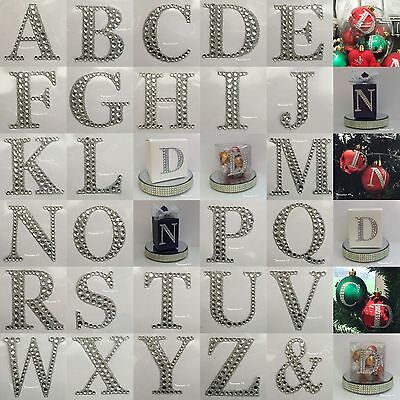 1 X 55mm Large Rhinestone Diamante Stick On Self Adhesive Letters For Favour Box • 0.99£