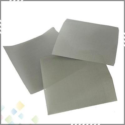 £7.25 • Buy 10 Pack 25 Micron 3 X3  Stainless Steel Screen Ultra Fine Reusable! 316 710
