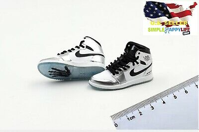 $17.84 • Buy 1/6 Men Silver Sneakers Shoes AJ HOLLOW Basketball For Hot Toys Phicen ❶USA❶