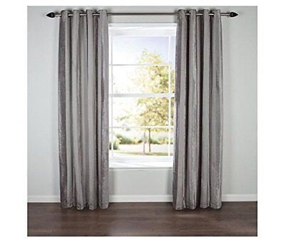 £19.99 • Buy Latte Chenille Striped Lined Eyelet Curtains 46 X 72 Lounge Bedroom Dining Deco