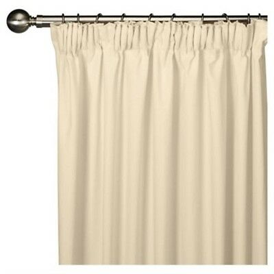 £21.99 • Buy Faux Silk Fully Lined Ivory Pencil Pleat Curtains 44 X 90 Lounge Bedroom Drapes