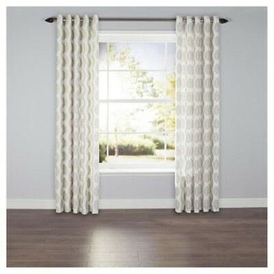 £16.49 • Buy Pair Of Leaf Print Lined Eyelet Curtains 64 X 54 Cm Lounge Bedroom Decor Drapes