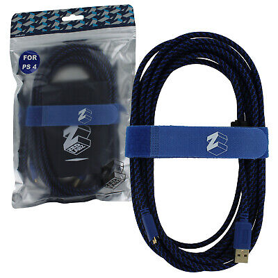 AU20.17 • Buy ZedLabz Ultra 5M Braided Charging USB Cable For PS4 Controllers Charge Play Lead
