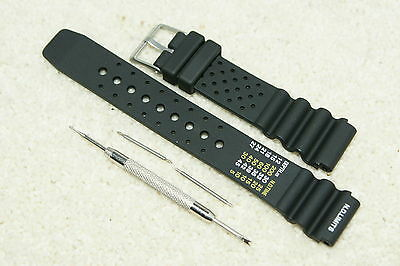 £8.99 • Buy XL Rubber Divers ND Limits Silicone Watch Strap Fits Seiko Citizen 18-24mm + Pin