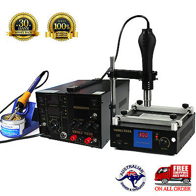 AU379.45 • Buy For YIHUA Hot Air Gun Soldering Rework Station DC Power 5A Preheat Stand Holder